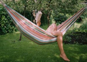 reading in a hammock